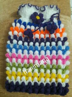 """You can learn how to knit """"tomurcuk lif"""" pattern. Learn How To Knit, Cute Bags, Crochet Fashion, Really Cool Stuff, Diy And Crafts, Hello Kitty, Learning, Knitting, Pattern"""