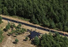 170 Foot Long Trampoline in the Woods of Russia