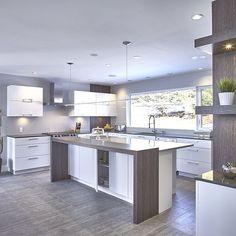 kitchen trends trends in the Top kitchen design for remodel kitchen design Grey Interior Design, Interior Design Kitchen, Kitchen Decor, Kitchen Ideas, Big Kitchen, Kitchen Sink, Kitchen Grey, Kitchen Cabinets, Kitchen Armoire