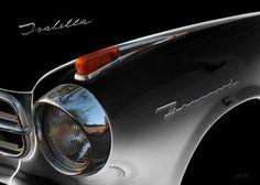 Borgward Isabella front detail in black & black
