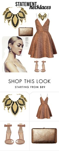 """statement necklace ll"" by anisamhussainxx ❤ liked on Polyvore featuring Nuit N°12, Joana Almagro, Gianvito Rossi, TravelSmith and statementnecklaces"