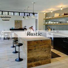 Modern rustic kitchen ideas, rustic vintage kitchen design modern - digsdigs, the interior design of rustic in the house is dominated by wood Kitchen Furniture, Kitchen Interior, Kitchen Decor, Furniture Design, Kitchen Ideas, Kitchen Rustic, Reclaimed Kitchen, Open Kitchen, Kitchen Inspiration