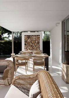 Patio/ stoep - house in Franschoek -South Africa