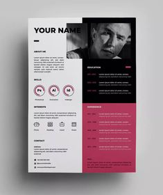 How to create perfect architecture portfolio Cv Resume Template, Resume Design Template, Design Templates, Portfolio Resume, Portfolio Design, My Portfolio, It Cv, Book Design Inspiration, Web Design