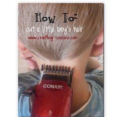 #DIY - how to cut boy's hair & save money! #kids #parentingtips