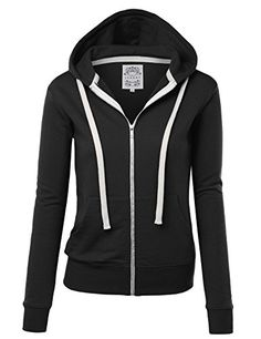 MBJ Womens Active Fleece Zip Up Hoodie Sweater Jacket L BLACK- #fashion #Apparel find more at lowpricebooks.co - #fashion