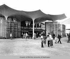 1962 Seattle World's Fair - The Philippine Pavilion Filipino Architecture, Philippine Architecture, Main Attraction, World's Fair, Manila, Pavilion, Philippines, Seattle, Louvre