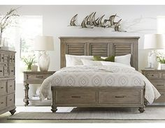 Our master bedroom set!! We got 2 of the open nightstand instead of the drawer nightstand.
