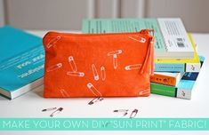 """How to make your own #DIY """"Sun Print"""" fabric! Too cool."""