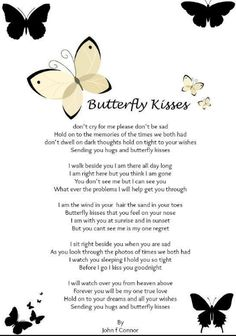 Don't Dwell On Dark Thoughts, Hold On Tight To Your Wishes, Sending You Hugs And Butterfly Kisses~ Sooo Beautiful! [For a brother who passed away unexpectedly one year ago . I love you Bobby Keener. Rip Daddy, Sending You A Hug, Grief Poems, Mom Poems, Brother Poems, Prayer Poems, Grieving Quotes, Miss You Mom, Memories Quotes