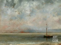 Clouds over Lake Geneva Photographic Print by Gustave Courbet at Art.com