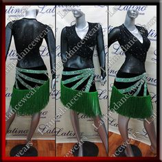 LATIN RHYTHM SALSA BALLROOM COMPETITION DANCE DRESS - SIZE S, M, L (LT908) #LatinoDancewears