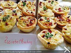 Zwiebelkuchen in der Muffinform, ein tolles Rezept aus der Kategorie Tarte/Quiche. Bewertungen: 8. Durchschnitt: Ø 4,1.