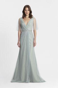 b5822beb2a Monique Lhuillier Spring 2017 Bridesmaids - Style   450376 - Sage Light  Blue Bridesmaid Dresses