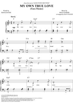 tara's theme sheet music - Google Search