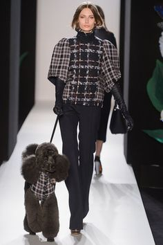 Mulberry Fall 2013 London - look forward to seeing this cute dog on the runway every season :)