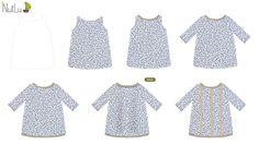 Proceso de #diseño de este #vestido para #nina ¿Os gusta? Es super fácil y divertido. Adelántate y haz el tuyo :) #modainfantil http://configurador.nutlu.com/