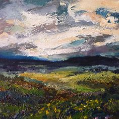 Daybreak   2011 Oil on canvas   300 x 300 #RosKochArt