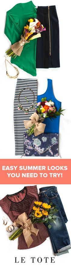 These are easy spring and summer outfit ideas for work or the weekend! You can rent all of these summer fashion outfits for women on www.letote.com! Have you tried a fashion subscription like LE TOTE yet? Summer Fashion Outfits, Casual Summer Outfits, Spring Summer Fashion, Love Fashion, Pretty Outfits, Cool Outfits, Le Tote, Summertime Outfits, Summer Ootd