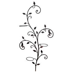 Decorative Wrought Iron Wall Planter Tree | From a unique collection of antique and modern garden ornaments at http://www.1stdibs.com/furniture/building-garden/garden-ornaments/