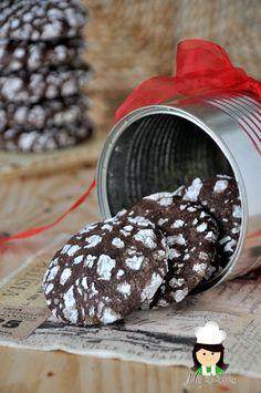 Mis chucherias: Galletas craqueladas de chocolate (Chocolate crackle cookies)