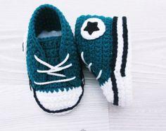 Zapatillas de bebé zapatos de bebé del ganchillo Patucos de