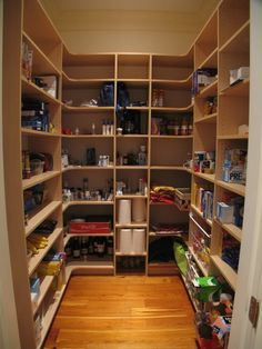 Pantry extra lighting on shelves maybe add outlets and for 6x7 walk in closet