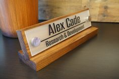 Desk Plaque: Office Nameplate Personalized Professional Gift Wood Sign 10 x 2.5 - http://officedesksbuy.com/desk-plaque-office-nameplate-personalized-professional-gift-wood-sign-10-x-2-5.html