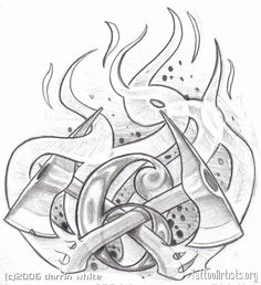 firefighter tattoo designs clip art   Fireman Tattoos Firefighter Shield Badge - santattoos.com