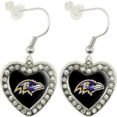 Baltimore Ravens Earrings ( someone should buy these for me
