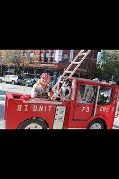 Boston Terrier Costume - Firefighter