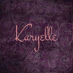 Baby girl name Karyelle; care-aye-el - Popular Baby Names - Ideas of Popular Baby Names - Baby girl name Karyelle; Baby Girl Names Elegant, Unique Girl Names, Unusual Baby Names, Baby Gurl Names, Cute Baby Names, Boy Names, Popular Baby Names, Name Inspiration, Baby Name List
