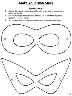 download this template to design your own superhero mask myon has tons of books on
