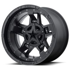 Rockstar by KMC Wheels XD827 Rockstar 3 Matte Black With Black Accents