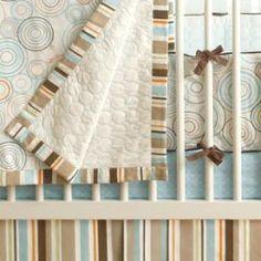 His cozy JJ Cole crib bedding <3