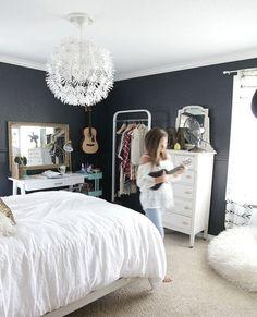 Home Design: 10 Black And White Bedroom For Teen Girls