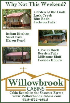 Shawnee National Forest Cabin Rental - Willowbrook Cabins
