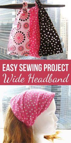 Fabric Headband (Free Sewing Pattern) – Sew Crafty Me Easy Sewing Patterns, Easy Sewing Projects, Sewing Projects For Beginners, Pattern Sewing, Sewing Hacks, Sewing Crafts, Sewing Headbands, Fabric Headbands, Baby Headbands