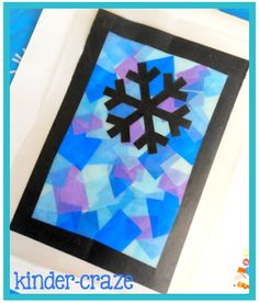 Festive Winter Window Decor and a Freebie Decorate your classroom with easy stained glass snowflake window decorations! Maria provides instructions how to make them & a free color by number penguin! Winter Art Projects, Winter Crafts For Kids, Winter Fun, Art For Kids, Winter Snow, Kindergarten Art, Preschool Crafts, Diy Crafts, Winter Thema