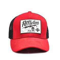 New  red  Affliction  truckerhat just hit the web store~  fashion   4ed56b93eaf5