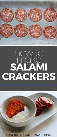 How to Make Salami Crisps Salami crackers are an excellent keto cracker option. How to make Salami crackers is part of the Have Butter will travel 'How to' series. Keto Foods, Keto Snacks, Healthy Snacks, Keto Meal, Salami Recipes, Wrap Recipes, Dinner Recipes, Yummy Recipes, Low Carb Keto