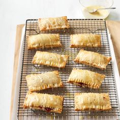 Rhubarb and Raspberry Hand Pies  - Delish.com