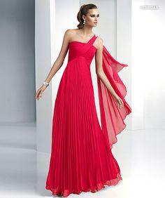 Vestido rojo Pronovias Fiesta 2012