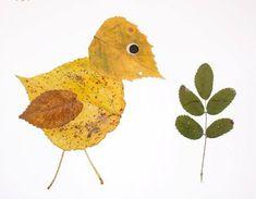 Фантазия из осенних листьев - аппликация на тему природы 6