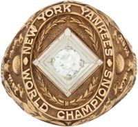 """1938 New York Yankees World Series Championship Ring Presented to Charles """"Red"""" Ruffing"""