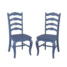 sauder cottage road slat back chair set of 2 dining room