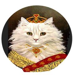 1 1/2 Fabric Cat Button - The Princess White Royal Kitten Finery Dressed For her Wedding by CatFabricsandButtons on Etsy https://www.etsy.com/listing/243366411/1-12-fabric-cat-button-the-princess