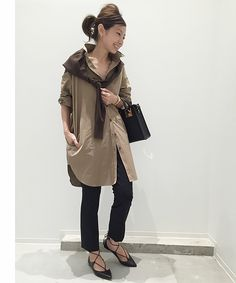Japan Fashion Casual, Minimal Chic, New Look, Military Jacket, Summer Outfits, Raincoat, Normcore, One Piece, Style Inspiration