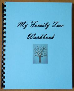 My Family Tree Workbook Genealogy Fill In the Blanks by Cookzee
