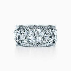 Brides: Tiffany & Co. Platinum band with diamonds, Um, yes please? Photo: Courtesy of Tiffany & Co. Featured In: Unique Wedding Bands with Creative . Tiffany Und Co, Tiffany & Co., Tiffany Wedding, Unique Wedding Bands, Wedding Rings For Women, Engagement Solitaire, Wedding Engagement, The Bling Ring, Crystals